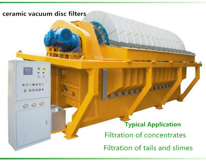 Durable vacuum disc filter , vacuum ceramic filter Filtration of concentrates