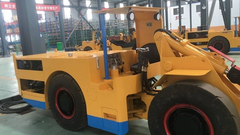 1 Cubic Meter  Electric LHD Load Haul Dump Machine For Underground Mining with Cable CE / ISO9001