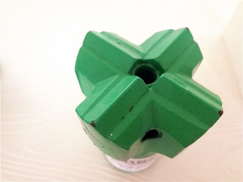 Rock Mining Drilling Tools Tapered Cross Drill Bit 7 / 11 / 12 Degree Taper Angle