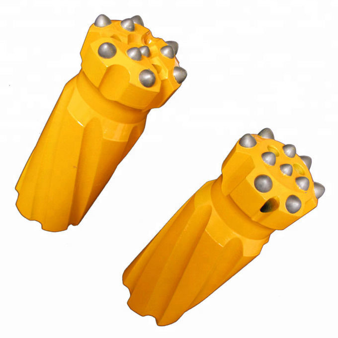 Drill Retrac Mining Drill Bits T45 Spherical / Ballistic Buttons Dia 70 - 102mm