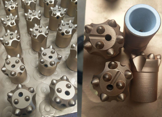 Tapered Mining Drilling Button Bits For Small Hole Rock Drilling Tools with Length 28mm-41mm