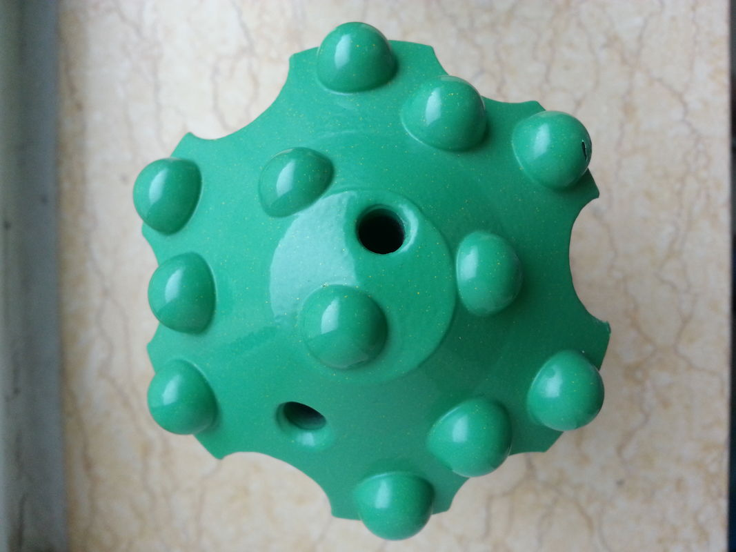 High Strength Alloy Steel Dome Reaming Drill Bit Green With CNC Milling